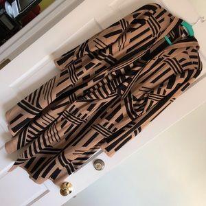 Avenue Geometric Long Sweater